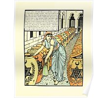The Forty Thieves by Walter Crane 1898 15 - And So Defeated Them A Second Time Poster