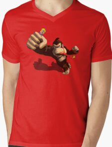 Donkey King-Kong Mens V-Neck T-Shirt