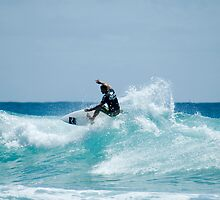 surfing snapper rock kirra beach QLD by mellielee