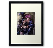 Jinx and Vi Painting - League of Legends Framed Print