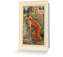 A Wonder Book for Girls and Boys by Nathaniel Hawthorne illustrated by Walter Crane 99 - Midas with the Pitcher Greeting Card