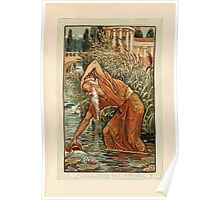 A Wonder Book for Girls and Boys by Nathaniel Hawthorne illustrated by Walter Crane 99 - Midas with the Pitcher Poster