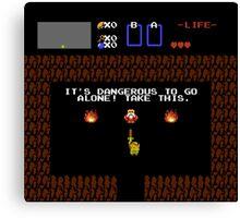 Legend of Zelda: Take this! (Full) Canvas Print
