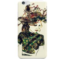 Foreign Slippers, Lady in a Birds Nest Hat with Chinese Dress iPhone Case/Skin