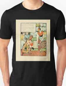 Cinderella Picture Book containing Cinderella, Puss in Boots, and Valentine and Orson Illustrated by Walter Crane 1911 28 - Proclamation and Crystal Shoe Unisex T-Shirt