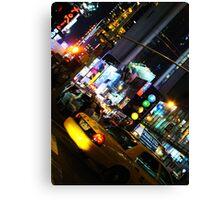 Taxi Cab Canvas Print