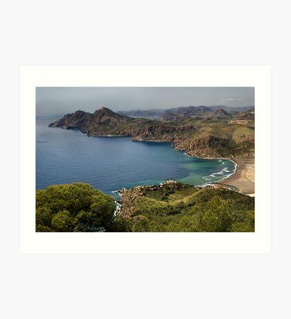 Portman Bay, Costa Calida, Spain Art Print