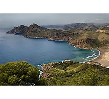 Portman Bay, Costa Calida, Spain Photographic Print