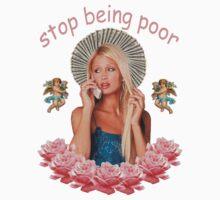 Paris Hilton 'Stop Being Poor' Print T-Shirt