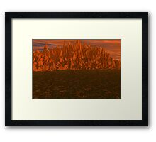 Heat and Vibrance Framed Print