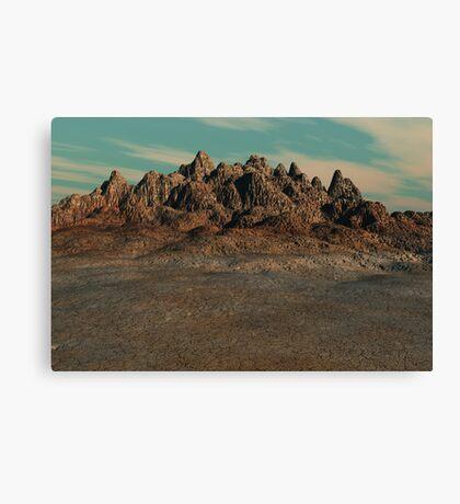 Cracked Land Canvas Print