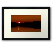 Algonquin Park - Brewer Lake Sunset Framed Print