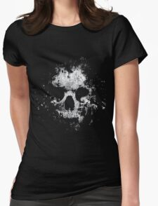 torn skull Womens Fitted T-Shirt
