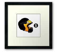Pacman Money Framed Print
