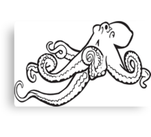 Octopus Ink Drawing Canvas Print