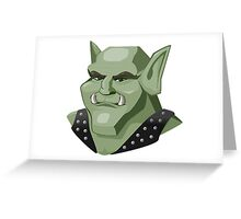 Orc, Digital Artwork Greeting Card