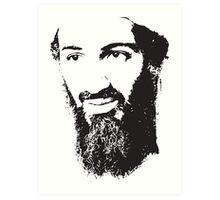 Osama Bin Laden, Silhouette Art Print
