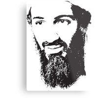 Osama Bin Laden, Silhouette Metal Print