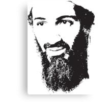 Osama Bin Laden, Silhouette Canvas Print