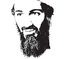 Osama Bin Laden, Silhouette Photographic Print