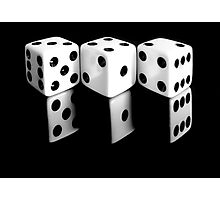 Reflecting Dice Photographic Print