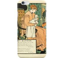 The Buckle My Shoe Picture Book by Walter Crane 1910 64 - My Mother iPhone Case/Skin
