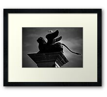 Venice, The Lion and the Hitchhiker Framed Print