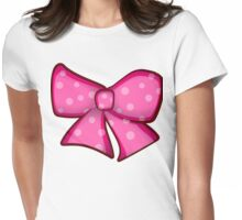 Pink Bowtie Womens Fitted T-Shirt