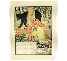 Cinderella Picture Book containing Cinderella, Puss in Boots, and Valentine and Orson Illustrated by Walter Crane 1911 43 - Bellisant, the Twins and the Bear Poster