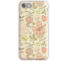 Tea party vector seamless pattern iPhone Case/Skin
