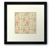 Tea party vector seamless pattern Framed Print