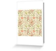 Tea party vector seamless pattern Greeting Card