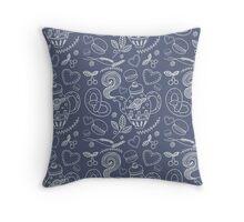 Tea party vector seamless pattern Throw Pillow