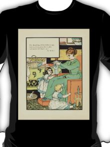 The Buckle My Shoe Picture Book by Walter Crane 1910 66 - Who Dress'd My Doll in Clothes So Gay T-Shirt