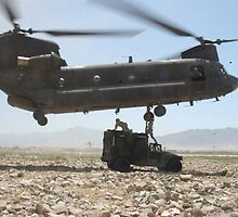CH-47 Chinook in Bagram by anibubble