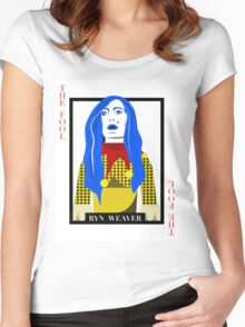 Ryn Weaver - The Fool Playing Card Women's Fitted Scoop T-Shirt