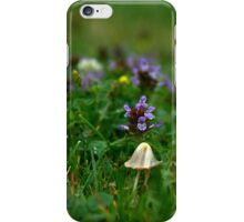 Mushroom purple flower nature by Carol Sue iPhone Case/Skin