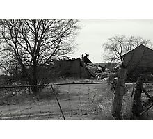 Barely Breathing.... a farm loosing it's life... Photographic Print