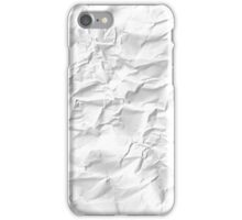 Paper crumpled iPhone Case/Skin