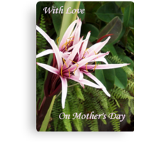 On Mothers Day  Canvas Print