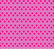Yuri Kuma Arashi Pink by Zikkled