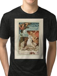 A Wonder Book for Girls and Boys by Nathaniel Hawthorne illustrated by Walter Crane 131 - Pandora Opens the Box Tri-blend T-Shirt