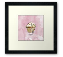 Feather Cupcake Framed Print