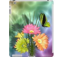 Painted Daisies and Butterlfies iPad Case/Skin