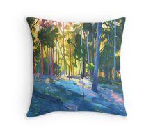 Sunlight through trees Throw Pillow