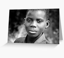 Series: Faces of Meponda, Mozambique #6 Greeting Card