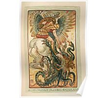 A Wonder Book for Girls and Boys by Nathaniel Hawthorne illustrated by Walter Crane 255 - Bellerophon Slays the Chimera Poster