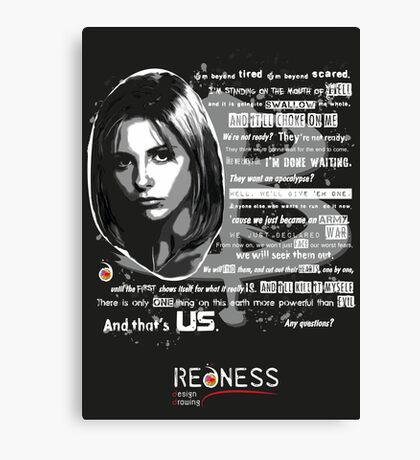 Buffy speech Canvas Print