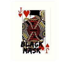 Black mask. Art Print