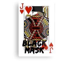 Black mask. Metal Print